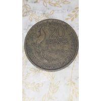Франция 20 франков 1952