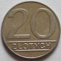 Польша, 20 злотых 1989 г