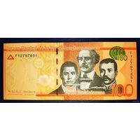 РАСПРОДАЖА С 1 РУБЛЯ!!! Доминиканская Республика 100 песо 2011 год UNC UNC