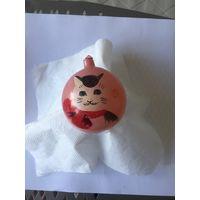 Елочная игрушка СССР , роспись кот