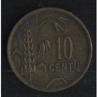 Литва 10 центов 1925 г. (*). Не плохие!!