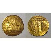 Византийская Империя, Алексей I Комнин, гиперпирон, 1092-1118 годы, г. Константинополь. Широкая шайбочка - 32 мм