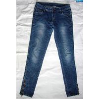 Рваные джинсы за рубль, р.38-40, стрейч