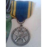Стрелковая медаль Швеции, на 1945год! Серебро. Ag830..900*!  Из личной коллекции!