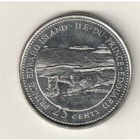 Канада 25 цент 1992 Остров Принца Эдуарда