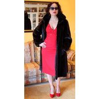 Saga Mink Немецкая люкс -класса новая норковая шуба в стиле Шанель /Chanel ! натурально-чёрного цвета.Размер 38-40-42-44