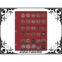 Лист Универсальный для 30 монет диаметром 27 мм, в альбом Коллекционер Коллекционеръ 10 и 25руб бим