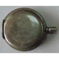 """Корпус на карманные часы """"Павел Буре"""" до 1917г. Мельхиор. Нет задней крышки. Диаметр 5.5 см. Диаметр механизма 4.4 см."""