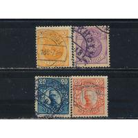 Швеция 1911 Герб Густав V Стандарт #65,67,74,75