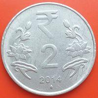 2 рупии 2014 ИНДИЯ - мон.двор Мумбаи