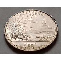 25 центов, квотер США, штат Небраска, D