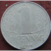 2626:  1 пфенниг 1975А Германия КМ# 8.1 алюминий