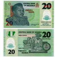 Нигерия. 20 найра (образца 2006 года, P34a, UNC)