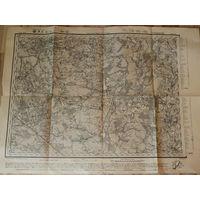 Оригинальная карта трехверстовка 1915г. Ряд 17.Лист 9.Чечерск