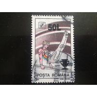 Румыния 1998 гимнастика надпечатка