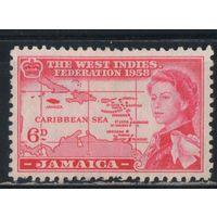 GB Вест Индская Федерация Ямайка 1958 EII Омнибус #179*