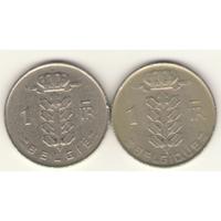 Пара: 1 франк 1967 г. Q: KM#142 и E: KM#143