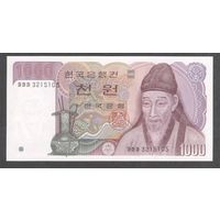 Южная Корея 1000 вон 1983 г. UNC