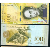 Венесуэла 100 тысяч боливар 2017 UNC 100000