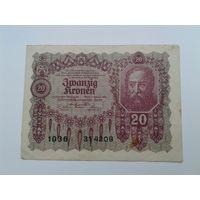Австрия 20 крон 1922 год.