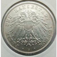 3 марки 1912 Любек. СОСТОЯНИЕ!