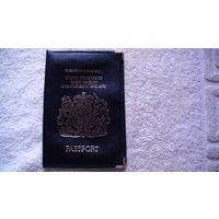 """Обложка кожаная """"Англия"""" на паспорт. распродажа"""