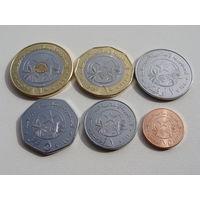 "Мавритания. набор 6 монет 1,2,5,10,20 угии 2018 год и 1/5 угии 2017 года ""Фауна"" UNC"
