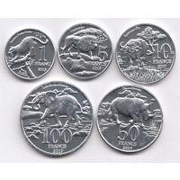 Катанга (Конго) набор 5 монет 2017 UNC