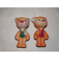 Тигренок, кот - резиновая игрушка СССР, пищалка, старая резина