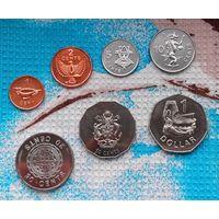 Набор монет Соломоновы острова 1, 2, 5, 10, 20, 50 центов; 1 доллар. Инвестируй в монеты планеты!