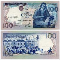 Португалия. 100 эскудо (образца 1985.06.04 года, P178e, подпись 2, UNC)