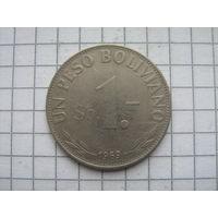Боливия 1 песо боливано 1969г.