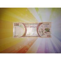 Гайана 50 долларов 2016г юбилейная