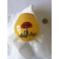 Елочная игрушка СССР , лампа, роспись гриб