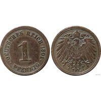 YS: Германия, Рейх, 1 пфенниг 1901D, KM# 10 (2)