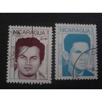 Никарагуа 1988 революционеры Mi-1,8 евро гаш.