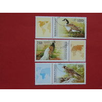 Буркина-Фасо 1996г.  Птицы.