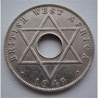 Британская Западная Африка. 1/2 пенни 1949 год KM#27 Редкая!!!