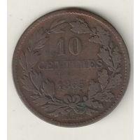 Франция 10 сантим 1865
