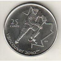 Канада 25 цент 2007 XXI зимние Олимпийские Игры, Ванкувер 2010 Хоккей