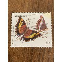 Зимбабве 1992. Бабочки. Foxy charaxes. Марка из серии