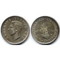 5 шиллингов 1952, Южная Африка, Георг VI. 300 летие Кейптауна. Красивое коллекционное состояние
