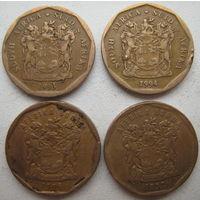 ЮАР 20 центов 1993, 1994, 1996, 1997 гг. Цена за 1 шт. (g)