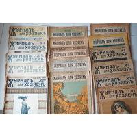 Журналы для хозяек, 16 журналов, 17 выпусков 1914 и 1916 гг