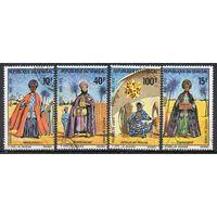 Рождество Сенегал 1972 год 4 марки