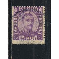 Исландия Уния с Данией 1920 Христиан X Стандарт #Mi 90