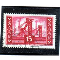 Германия. Саар. Ми-329. Шахта (Саар V). Индустриальный ландшафт.1955.
