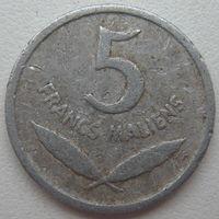 Мали 5 франков 1961 г.