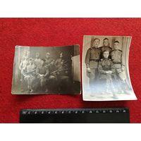 Две фотографии с солдатами участниками ВОВ