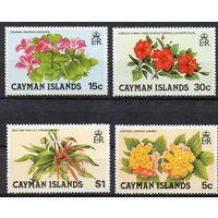 Флора Каймановы острова 1981 год чистая серия из 4-х марок (М)